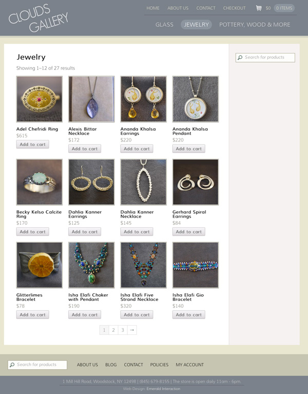 Clouds Jewelry Page